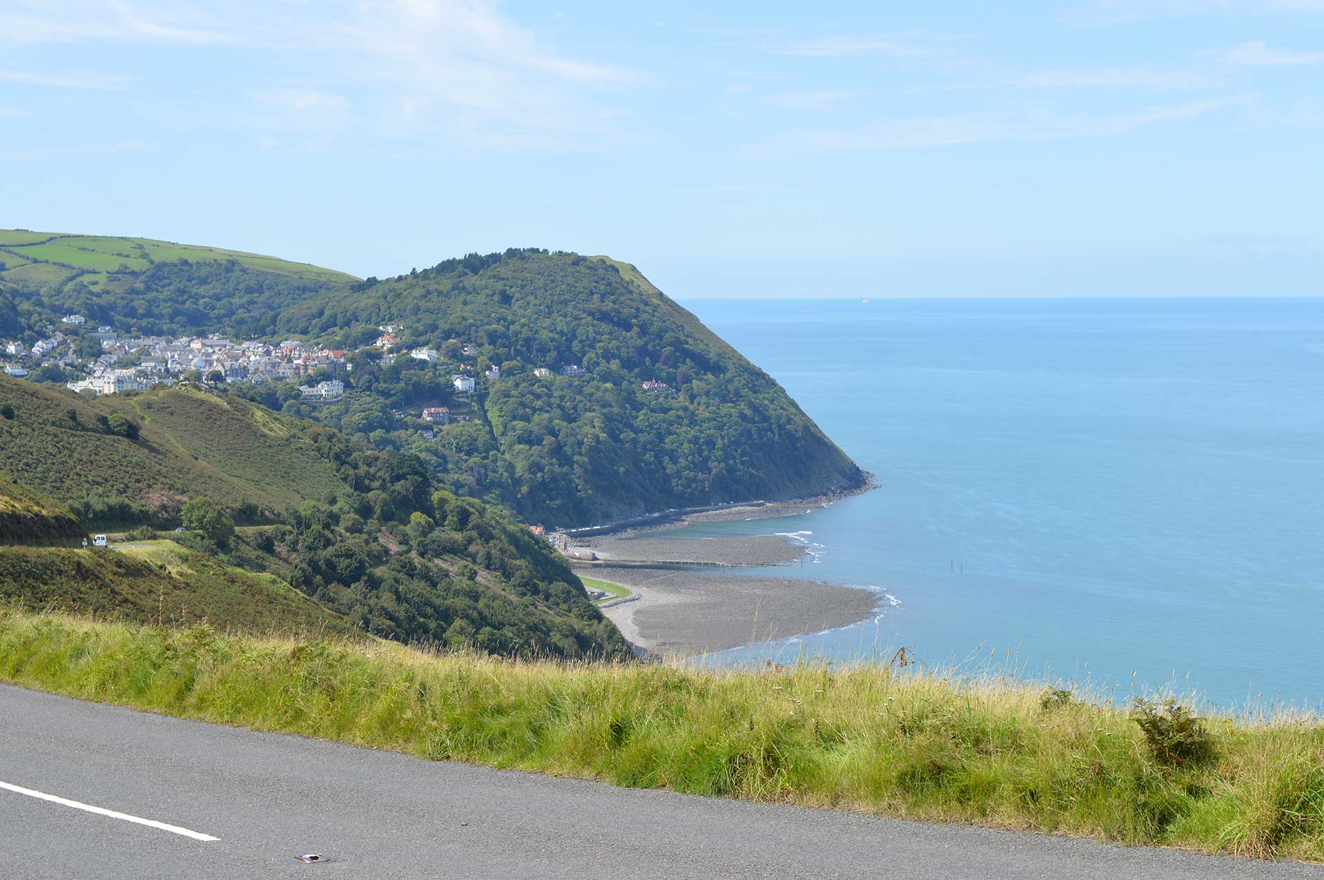 View from Countisbury Hill towards Lynmouth