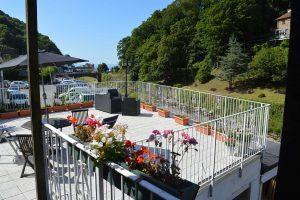 East-Lyn-House--Bed-Breakfast-Lynmouth-Devon-terrace-flowers